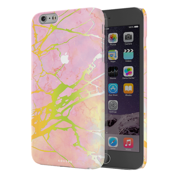 Lovely Pink Marble Cover Case For iPhone 6/6S Plus