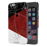 Red Geometric Marble Cover Case For iPhone 6/6S Plus