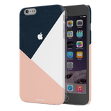 Blue Tricolor Pattern Cover Case For iPhone 6/6S Plus
