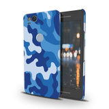 Blue Abstract Camouflage  Cover Case For Google Pixel 2
