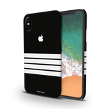 White Stripes Case Back Cover For iPhone XS