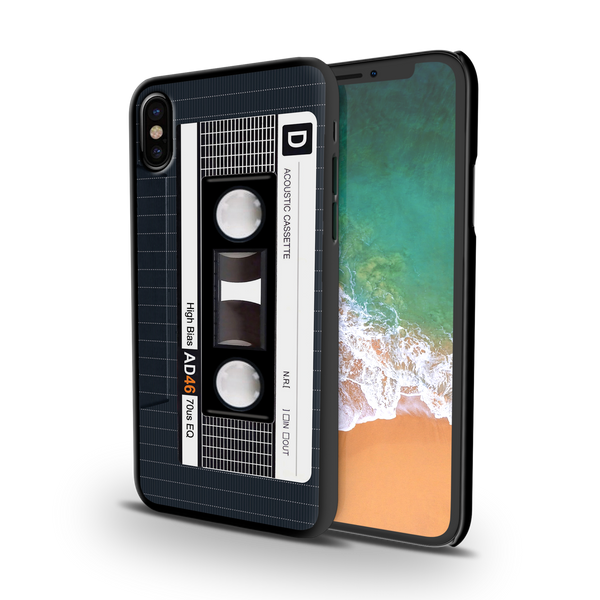 Acoustic Cassette Cover Case For iPhone X