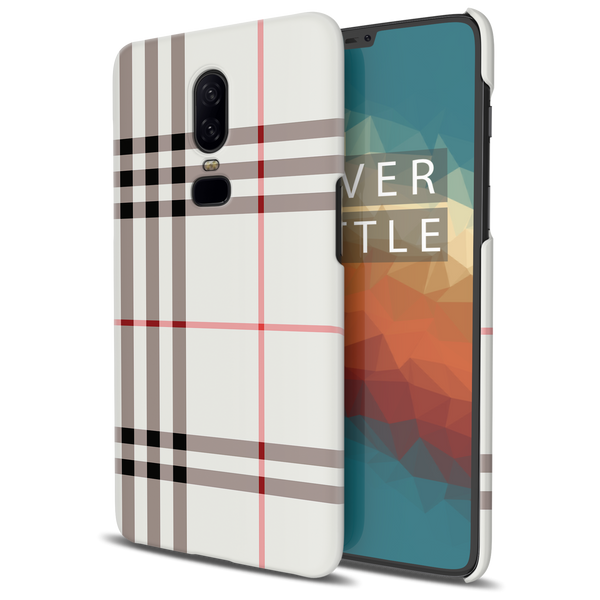 Brown Check Design Cover Case For OnePlus 6