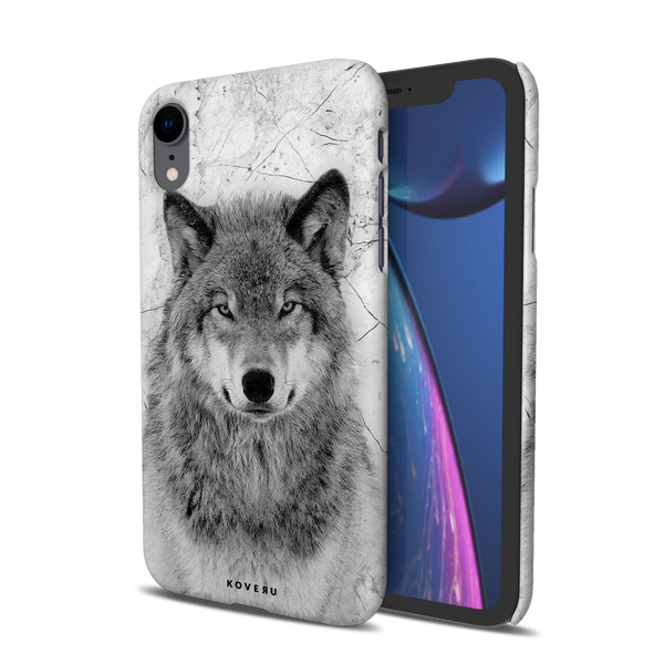 Wolf Marble Cover Case for iPhone XR