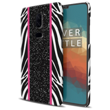 White Zebra Pattern Cover Case for OnePlus 6