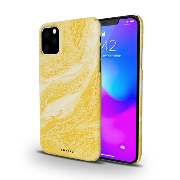 Yellow Marble Cover Case for iPhone 11 Pro