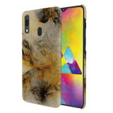 Yellow and Black Marble Cover Case for Samsung Galaxy A20