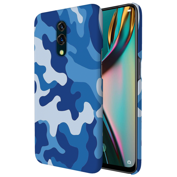Blue Abstract Camouflage Cover Case for Oppo K3
