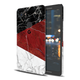 Red Geometric Marble Cover Case For Google Pixel 2 XL