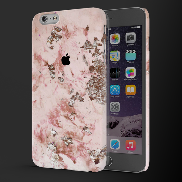Pink Marble Cover Case For iPhone 6/6S Plus