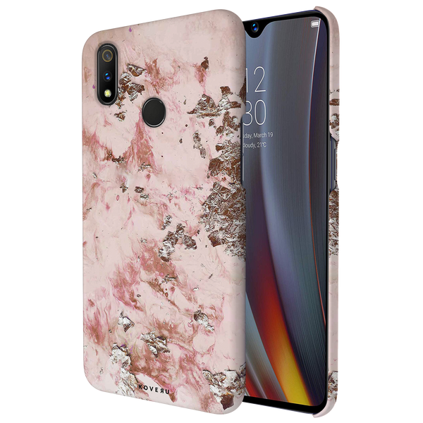 Pink Marble Cover Case for Realme 3 Pro