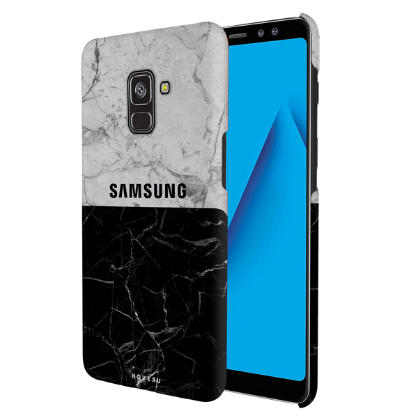 Grey Marble Cover Case for Galaxy A8 Plus