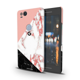 Peach Geometric Marble Cover Case For Google Pixel 2