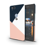 Blue Tricolor Pattern Cover Case For Google Pixel 2
