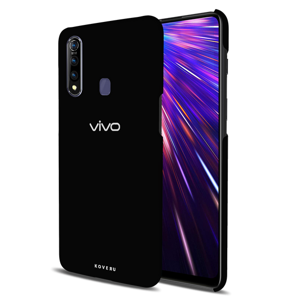 Jet Black Cover Case for Vivo Z1 Pro
