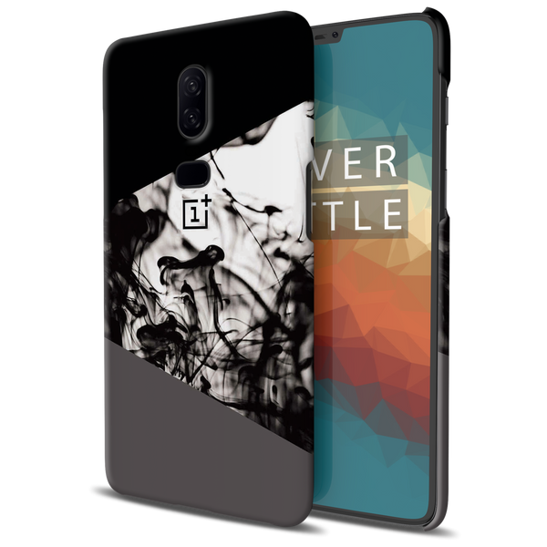 Grey Splash Cover Case For OnePlus 6