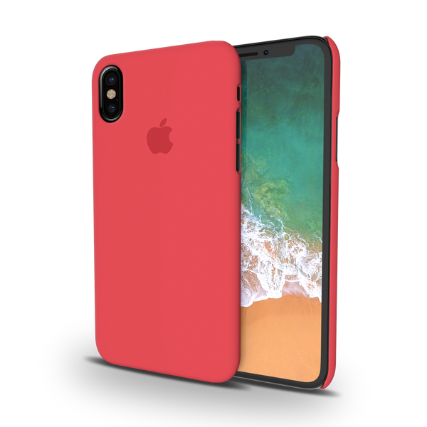 Red Back Cover Case For iPhone XS