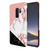 Peach Geometric Marble Cover Case Samsung Galaxy S9 Plus