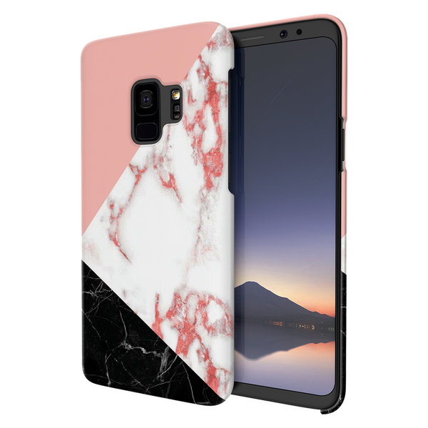 Peach Geometric Marble Cover Case For Samsung Galaxy S9
