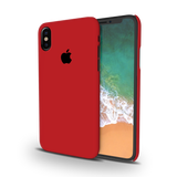 Blood Red Cover Case For iPhone X