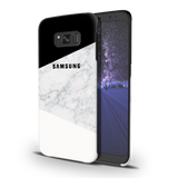 Geometric White Marble Cover Case For Samsung Galaxy S8 Plus