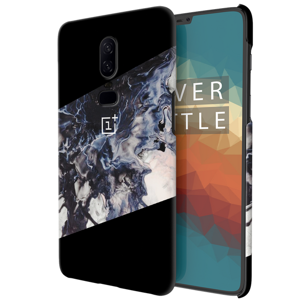 Black Splash Cover Case For OnePlus 6