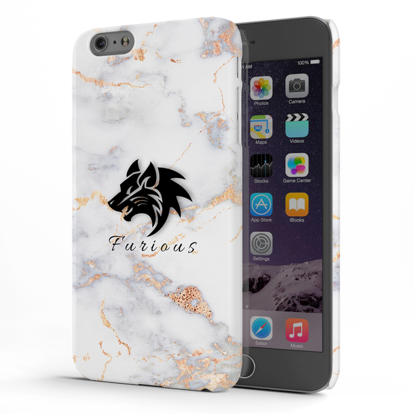 Furious Wolf Marble Cover Case For iPhone 6/6S Plus