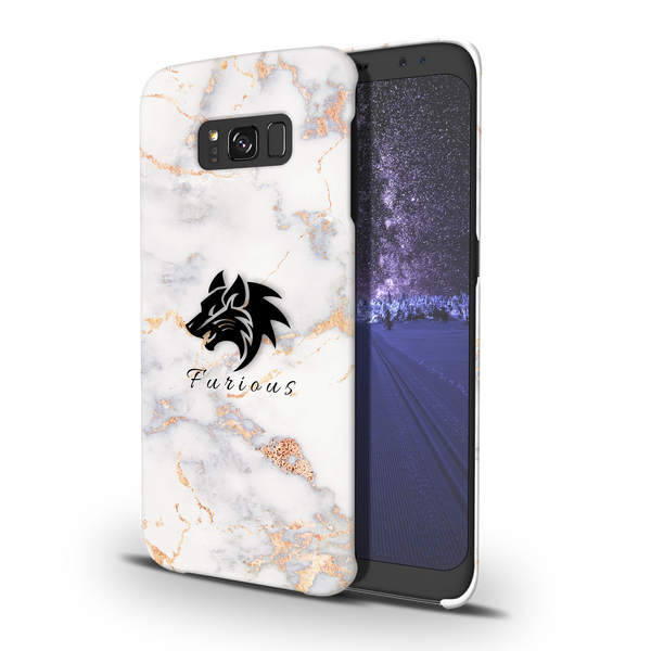 Furious Wolf Marble Cover Case For Samsung Galaxy S8
