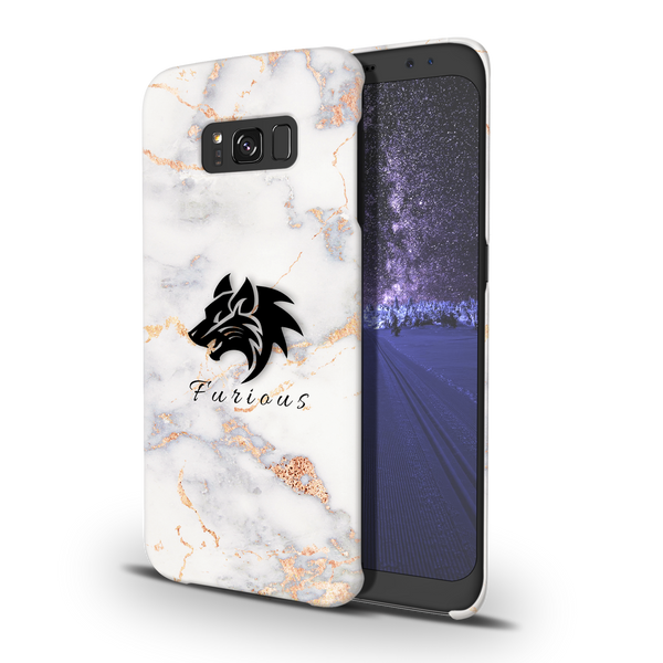 Furious Wolf Marble Cover Case For Samsung Galaxy S8 Plus
