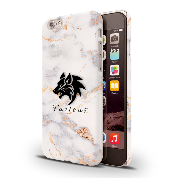Furious Wolf Marble Cover Case For iPhone 6/6S
