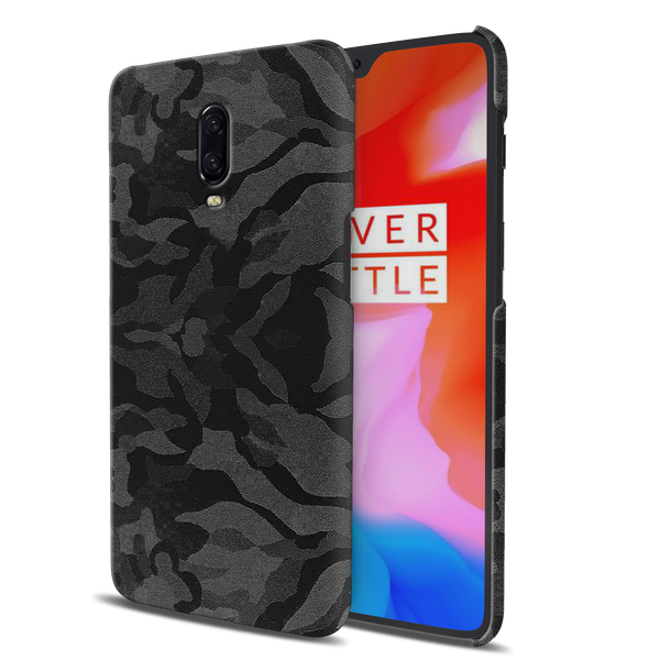 Black Patterned Camouflage Cover Case For OnePlus 6T