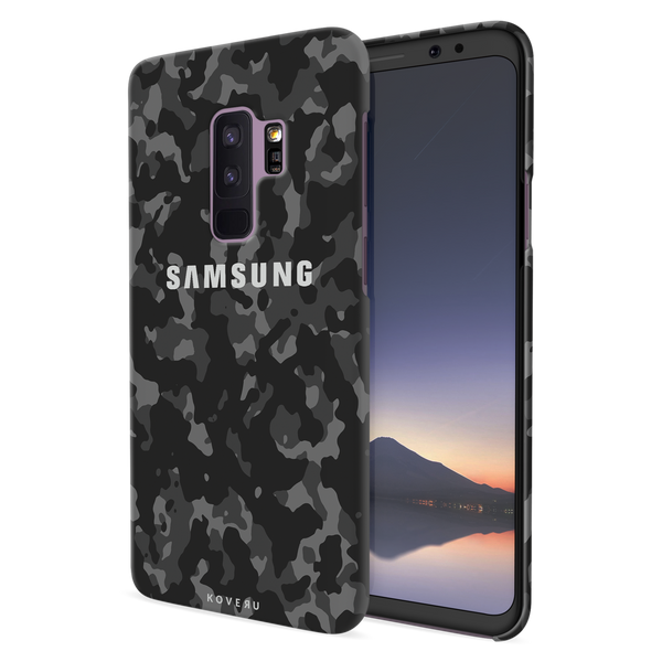 Black Camouflage Cover Case For Samsung Galaxy S9 Plus