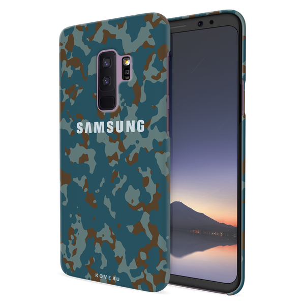 Navy Camouflage Cover Case For Samsung Galaxy S9 Plus