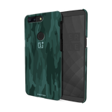 Green Camouflage Design Back Cover Case For OnePlus 5T