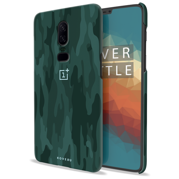 Green Camouflage Design Back Cover Case For OnePlus 6