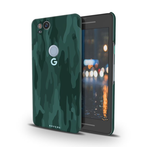 Green Camouflage Case For Google Pixel 2