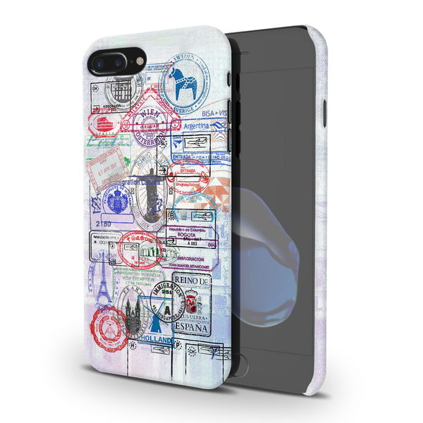 Stamps Cover Case for iPhone 7/8 Plus