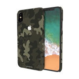 Brown Abstract Camouflage  Cover Case For iPhone X