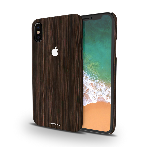 Wooden Texture Back Cover Case For iPhone X