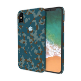Navy Camouflage Cover Case For iPhone X