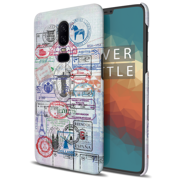 Stamps Cover Case for OnePlus 6