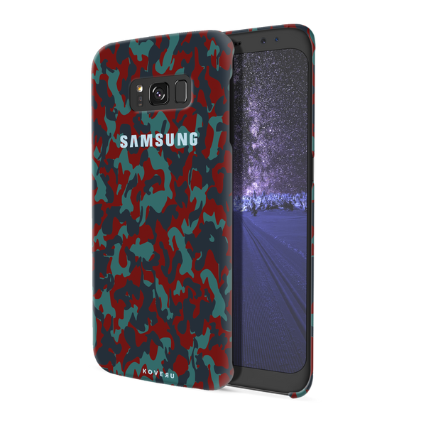 Red Camouflage Cover Case For Samsung  Galaxy S8 Plus