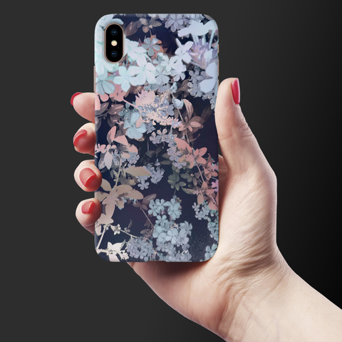 Night Flowers Case Cover for iPhone XS Max
