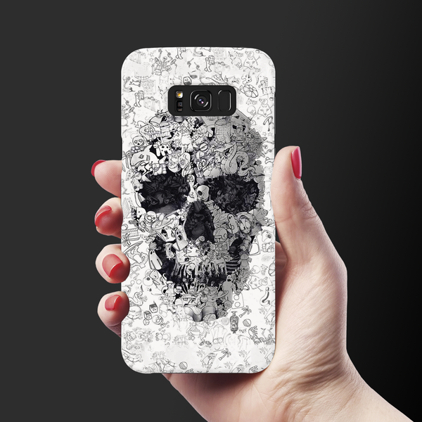 Skull Doodle Cover Case For Samsung Galaxy S8
