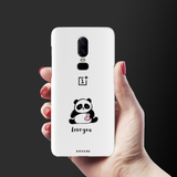 Love for Panda Cover Case For OnePlus 6