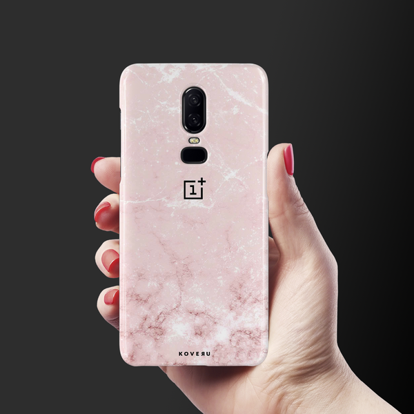 Baby Pink Marble Cover Case For OnePlus 6