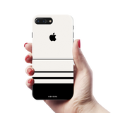 White Horizon Stripes Cover Case For iPhone 7/8 Plus