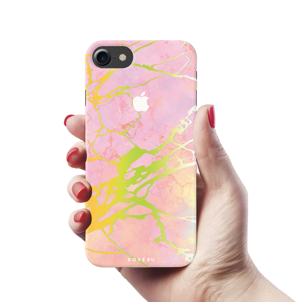 Lovely Pink Marble Cover Case For iPhone 7/8