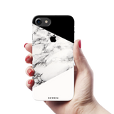 Geometric White Marble Textured Cover Case For iPhone 7/8