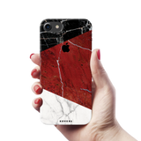 Red Geometric Marble Cover Case For iPhone 7/8